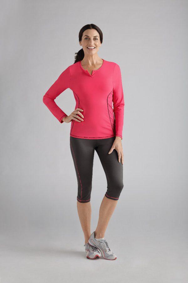 Prothese sport shirt Amoena Mesh Flamingo