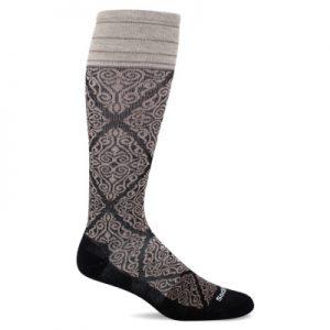 Steunkousen Sockwell The Raj dames-zwart